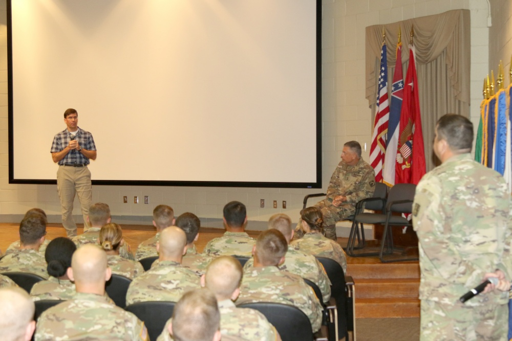 Secretary of the Army praises Camp Shelby after visit